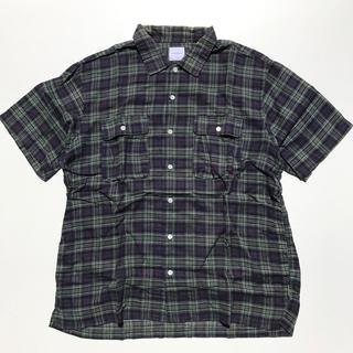 グッドイナフ(GOODENOUGH)のGOODENOUGH 半袖チェックシャツ Lサイズ(シャツ)