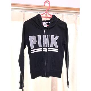 ヴィクトリアズシークレット(Victoria's Secret)のピンク フード付きパーカー(パーカー)
