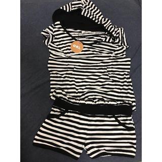 グレイル(GRL)のGRL ボーダー ロンパース(Tシャツ/カットソー(半袖/袖なし))