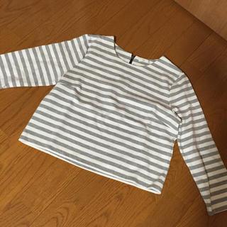 ジーユー(GU)のGUボーダートップス(Tシャツ(長袖/七分))