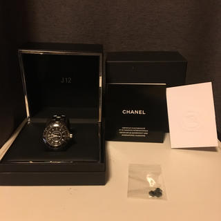 シャネル(CHANEL)のCHANEL J12 ブラックセラミック 12Pダイヤ  38mm  (腕時計(アナログ))