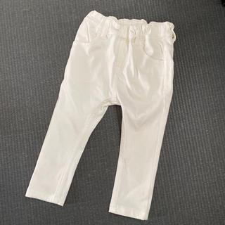MUJI (無印良品) - 無印良品 90 センチ ストレッチパンツ ホワイト レギンス パンツ