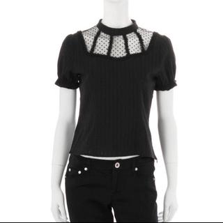 イートミー(EATME)の藤野有理着用 EATME ドットチュールホールブラウス(Tシャツ(半袖/袖なし))