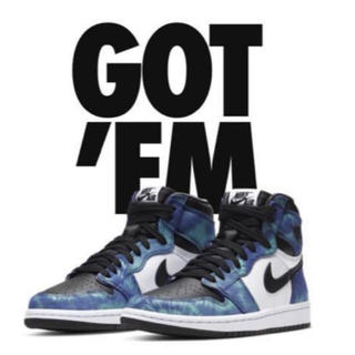 ナイキ(NIKE)の27.0cm WMNS AIR JORDAN1 HIGH OG TIE-DYE(スニーカー)