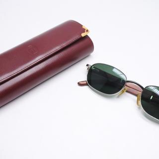 カルティエ(Cartier)のカルティエ 53□22 シルバー ウッドフレーム 希少 眼鏡 サングラス 正規(サングラス/メガネ)