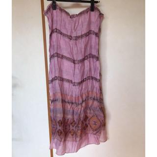シャネル(CHANEL)の高級シャネル刺繍ロングスカーフ(バンダナ/スカーフ)