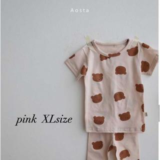 ユニクロ(UNIQLO)の新品 韓国子供服 aosta くまさんパジャマ くま パジャマ ホームウエア(パジャマ)