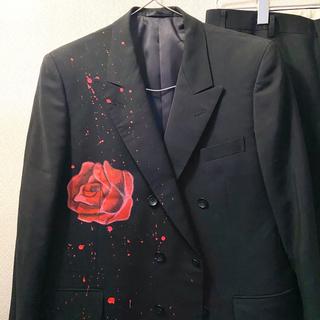 ジョンローレンスサリバン(JOHN LAWRENCE SULLIVAN)のヴィンテージ 薔薇 ペイント ダブルジャケット セットアップ(セットアップ)