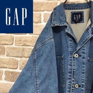 ギャップ(GAP)の【ギャップ】GAP 刻印リベットカバーオール デニムジャケット ビッグサイズ(Gジャン/デニムジャケット)