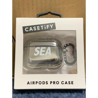シー(SEA)のwindandsea airpods pro ケース シルバー(モバイルケース/カバー)