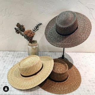 ルームサンマルロクコンテンポラリー(room306 CONTEMPORARY)のroom306♡wide straw boater hat(麦わら帽子/ストローハット)