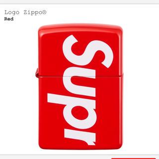 シュプリーム(Supreme)のSupreme Logo Zippo 新品未使用 赤ジッポ(タバコグッズ)