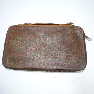 エトロ(ETRO)のETRO エトロ イタリア製 ペイズリー柄 ラウンドファスナー 財布 バッグ型(長財布)