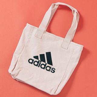 アディダス(adidas)のadidas  ビッグロゴ トートバッグ アイボリー 10L  (トートバッグ)