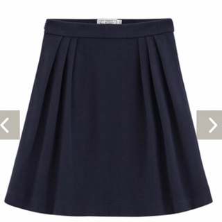 プチバトー(PETIT BATEAU)のプチバトー コットンピケスカート XS/S ネイビー PETIT BATEAU(ミニスカート)