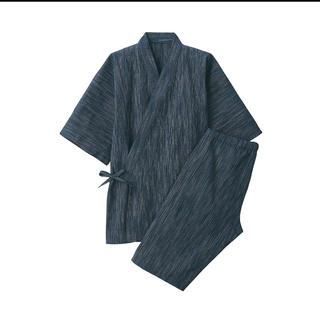 ムジルシリョウヒン(MUJI (無印良品))の無印良品しじら織り甚平 紳士M・ダークネイビー×柄(浴衣)