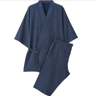 ムジルシリョウヒン(MUJI (無印良品))の無印良品ワッフル織り甚平 紳士M・ネイビー(浴衣)