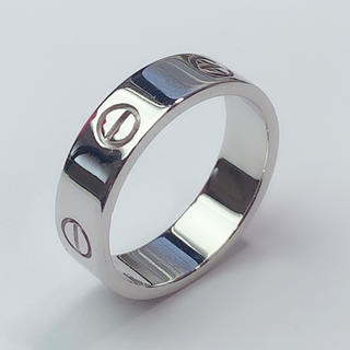 カルティエ(Cartier)のカルティエ リング ラブリング Cartier 指輪 K18WG 750 #61(リング(指輪))