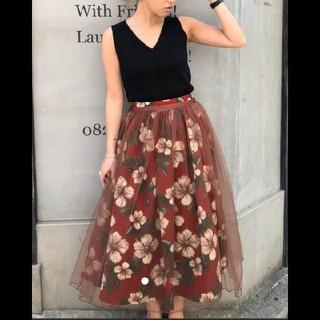 アンレリッシュ(UNRELISH)のUNRELISH2wayチュール花柄フレアスカート(ロングスカート)