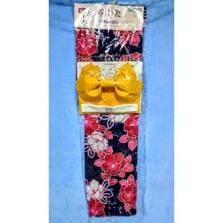 【新品】浴衣 レディース  花柄  4点セット つばき 椿 赤 白 黒(浴衣)