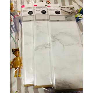 ダイソー 大理石柄リメイクシート スーパーホワイト 3枚(型紙/パターン)