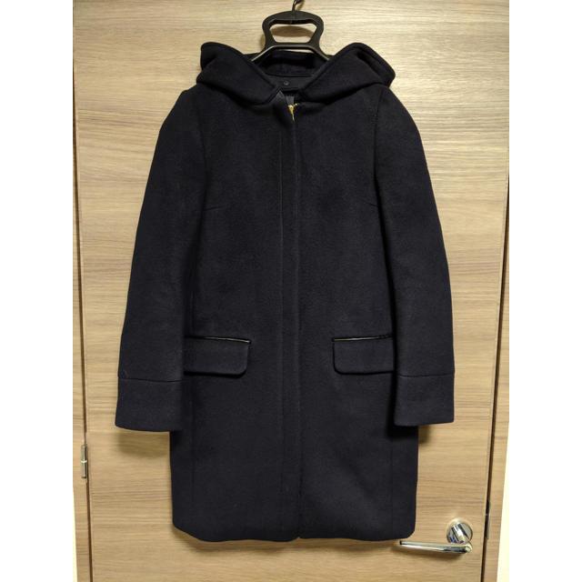 IENA(イエナ)のIENA フード付きSUPER120's メルトンコクーンコート. レディースのジャケット/アウター(ロングコート)の商品写真