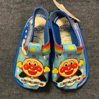 アンパンマン(アンパンマン)のアンパンマン 笛付サンダル ベビー キッズ 靴 水色×青 13cm(サンダル)