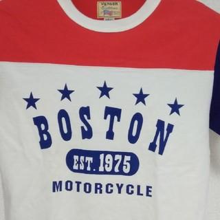 バンソン(VANSON)のお値引き‼️バンソンレザー·ボストンTシャツ 白×赤×青 サイズM(Tシャツ/カットソー(半袖/袖なし))