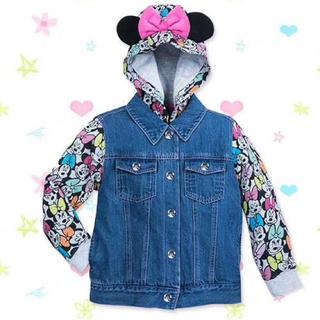 ディズニー(Disney)の新品未使用 Disneyデニムジャケット ミニー リボン 耳付き(ジャケット/上着)