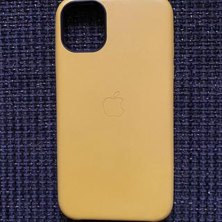 アイフォーン(iPhone)のiPhone 11 レザーケース 黄色(iPhoneケース)
