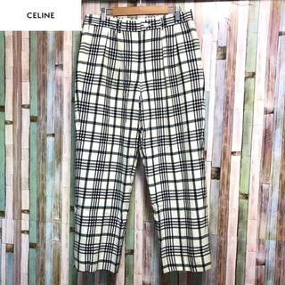 セリーヌ(celine)の90's CELINE チェックタックパンツ(スラックス)
