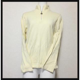 [Courreges]スポーツウェア黄色ハーフジップ カットソー可愛い着心地良い