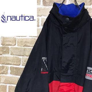 ノーティカ(NAUTICA)の【リバーシブル】ノーティカ 刺繍ロゴ ナイロン フリース ブルゾン 希少モデル(ブルゾン)
