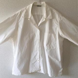COMOLI - AURALEE  オープンカラーシャツ