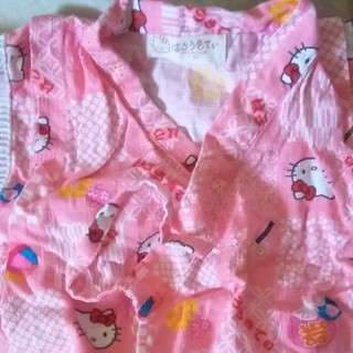 ハローキティ(ハローキティ)の子供浴衣 80㎝ キティちゃん(甚平/浴衣)