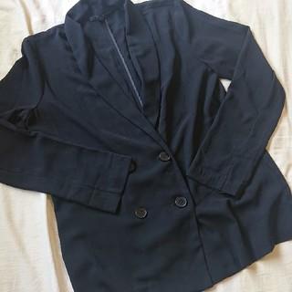 フォーエバートゥエンティーワン(FOREVER 21)のFOREVER 21*薄手黒ジャケット*Sサイズ(テーラードジャケット)