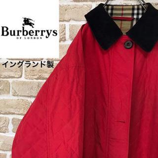 バーバリー(BURBERRY)の【イングランド製】バーバリーズ ノバチェック レッドキルティングジャケット 希少(ブルゾン)