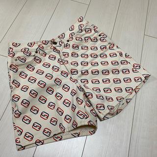 グッチ(Gucci)のGUCCI  GGロゴプリント ハイライズ ショートパンツ(ショートパンツ)