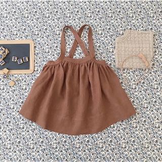 キャラメルベビー&チャイルド(Caramel baby&child )のsoor ploom吊りスカートmoth 4-5y(スカート)