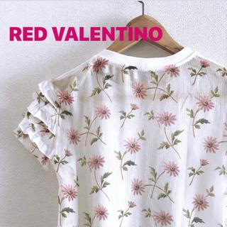 レッドヴァレンティノ(RED VALENTINO)のRED  VALENTINO デイジープリント トップス(Tシャツ(半袖/袖なし))