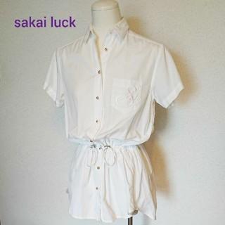 サカイラック(sacai luck)の【美品】sakai luck チュニック シャツ(シャツ/ブラウス(半袖/袖なし))