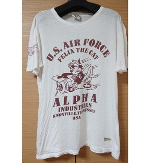 アルファ(alpha)のアルファのフェリックス柄メンズ半袖Tシャツ Lサイズ(Tシャツ/カットソー(半袖/袖なし))