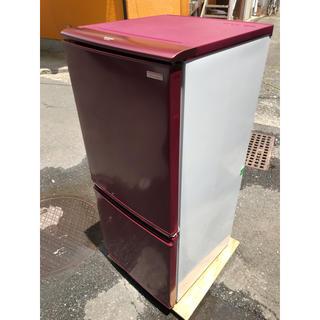シャープ(SHARP)のSHARP 2ドア冷蔵庫 SJ-C14X 2013(冷蔵庫)