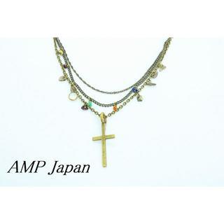 アンプジャパン(amp japan)のU240】AMP Japan アンプジャパン クロス ストーンビーズ ネックレス(ネックレス)
