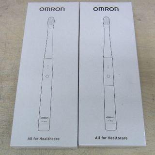 オムロン(OMRON)の■OMRON■音波式電動歯ブラシ 乾電池式 HT-B224 2個セット■新品■(歯ブラシ/デンタルフロス)