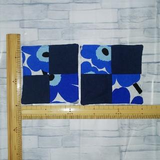 マリメッコ(marimekko)のハンドメイド marimekko生地のコースター 2枚組(雑貨)