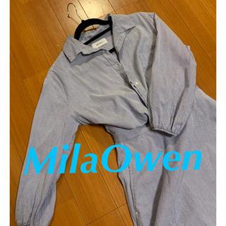 ミラオーウェン(Mila Owen)のミラオーウェン ワンピース ストライプ 美品(ひざ丈ワンピース)