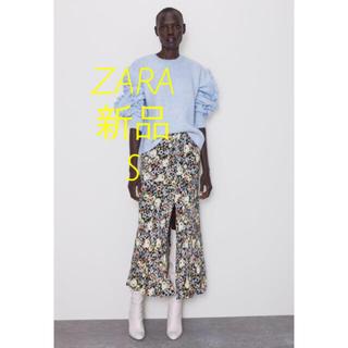 ザラ(ZARA)の新品 ZARA フラワー柄スカート S(ロングスカート)
