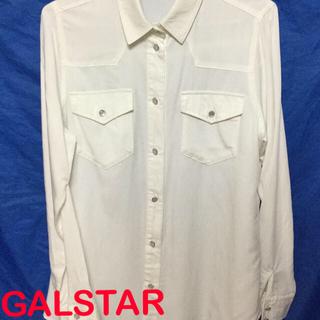 ギャルスター(GALSTAR)のGALSTAR シャツ ブラウス ホワイト 胸ポケット付き(シャツ/ブラウス(長袖/七分))