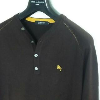 バーバリーブラックレーベル(BURBERRY BLACK LABEL)のバーバリー ブラックレーベル ロゴ ヘンリーネック セーター ニット(ニット/セーター)